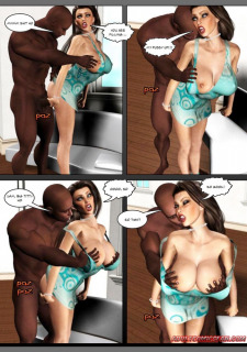 Big Tits- BlackonWhite3D image 05