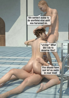 Two boys fucks a woman at Pool image 51
