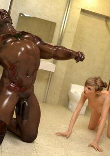 Brutal Interracial -3D Monster Hardcore image 33