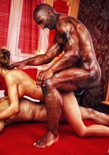Cuckold Husband Initiation- Interracialsex3d image 7