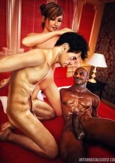 Cuckold Husband Initiation- Interracialsex3d image 8