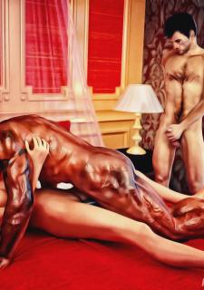 Cuckold Husband Initiation- Interracialsex3d image 10