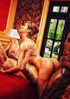 Cuckold Husband Initiation- Interracialsex3d image 15