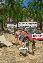 Family orgy at the beach image 03