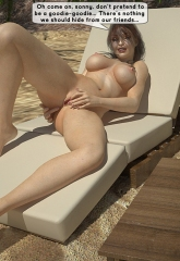 Family orgy at the beach image 08