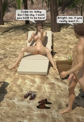 Family orgy at the beach image 09