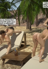 Family orgy at the beach image 15