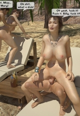 Family orgy at the beach image 19