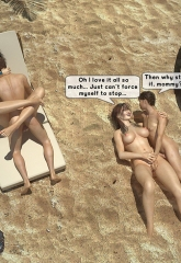 Family orgy at the beach image 35