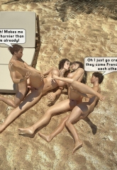 Family orgy at the beach image 36