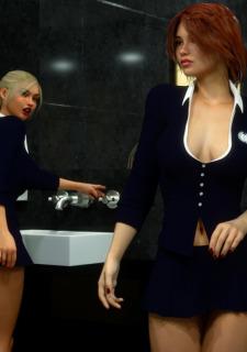 Erin and Vikki – Bathroom Break image 5