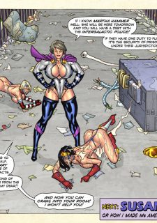 Freedom Stars in Prison Heat- Superheroine porn comics 8 muses