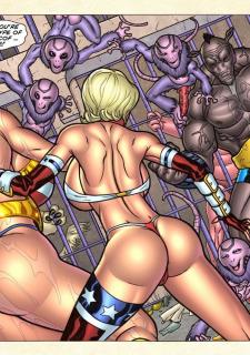 Freedom Stars in Prison Heat- Superheroine image 68