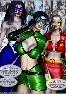 Green Hornet- Superheroine Central porn comics 8 muses