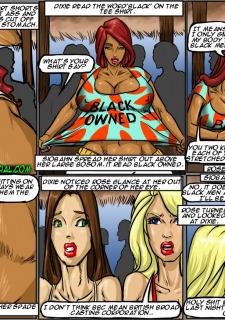 Flag Girls- Illustrated interracial image 125