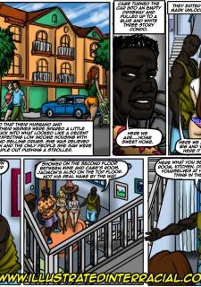 Flag Girls- Illustrated interracial image 25