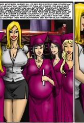The Class- Illustrated Interracial porn comics 8 muses
