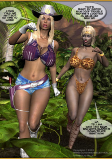 Jungle Babe and Wild Girl vs White Slavers image 03