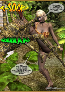 Jungle Babe and Wild Girl vs White Slavers image 23