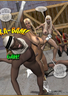 Jungle Babe and Wild Girl vs White Slavers image 65