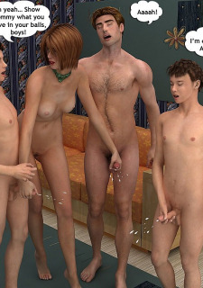 Mind-blowing foursome-Family Sex image 30