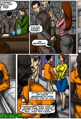Prison Story- illustrated interracial image 02