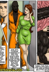 Prison Story- illustrated interracial image 13