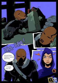 Raven Vs Slade- Teen Titans- Drawn Sex image 4