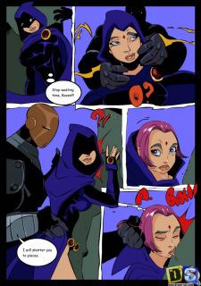 Raven Vs Slade- Teen Titans- Drawn Sex image 7