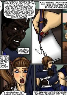 School Girl Sara- illustrated interracial image 03