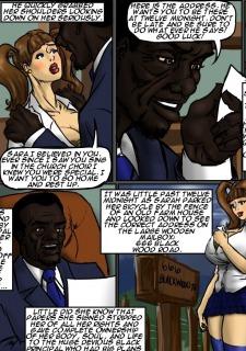 School Girl Sara- illustrated interracial image 04