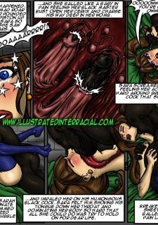 School Girl Sara- illustrated interracial image 17