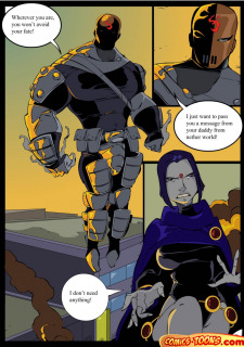Teen Titans- Raven Vs. Slade 2 image 2