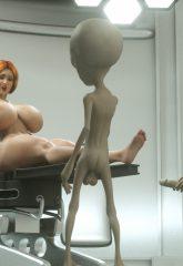 Thefoxxx- Alien abduction of Batbabe image 10