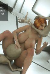 Thefoxxx- Alien abduction of Batbabe image 13
