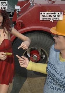 A Truck Driver fucks the rich bitch image 12