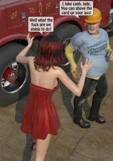 A Truck Driver fucks the rich bitch image 13