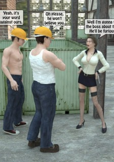 Two workers rape the chief woman- 3DStories image 3