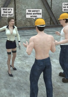 Two workers rape the chief woman- 3DStories image 4