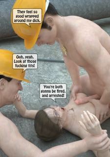Two workers rape the chief woman- 3DStories image 18