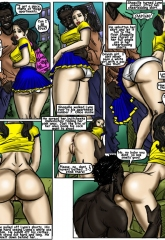 Cheerleaders- illustrated interracial image 05